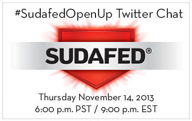 #SudafedOpenUp Twitter Chat