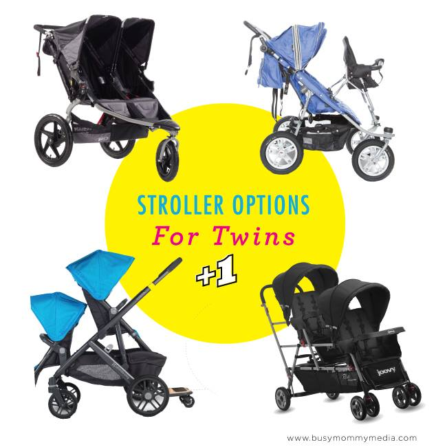 Need a stroller option for twins plus a toddler? We have some great options for you!