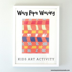 Wavy Paper Weaving Craft for Kids