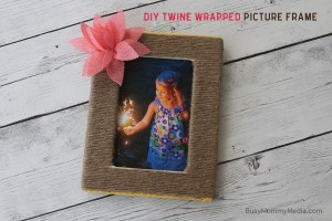 DIY Twine Wrapped Picture Frame