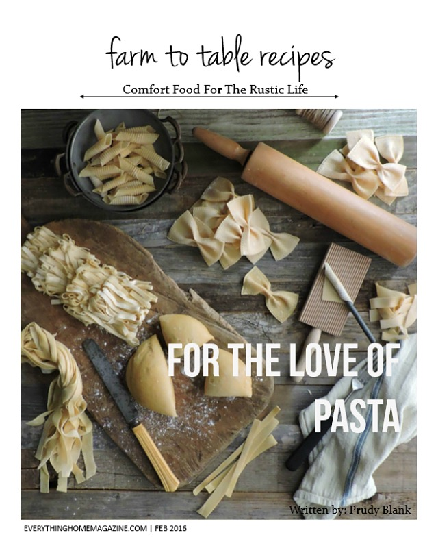 farm to table for the love of pasta