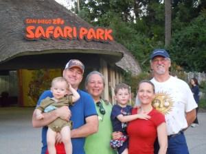The family outside the San Diego Zoo Safari Park