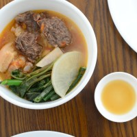 Sinigang na Baboy at Baka (Pork and Beef in Sour Broth)