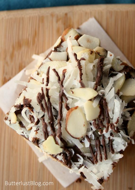 Almond Joy Rice Krispie Treats | ButterlustBlog.com