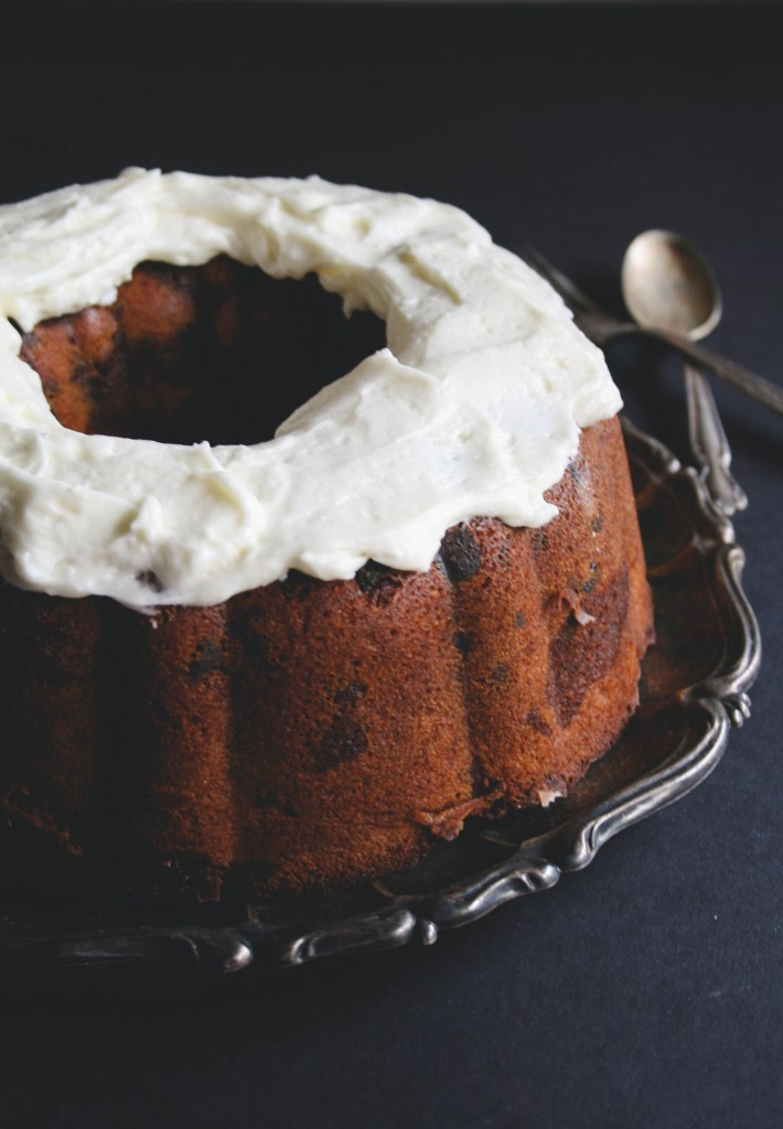 Nutella Swirl Bundt Cake with Fluffy Cream Cheese Frosting // butterlustblog.com