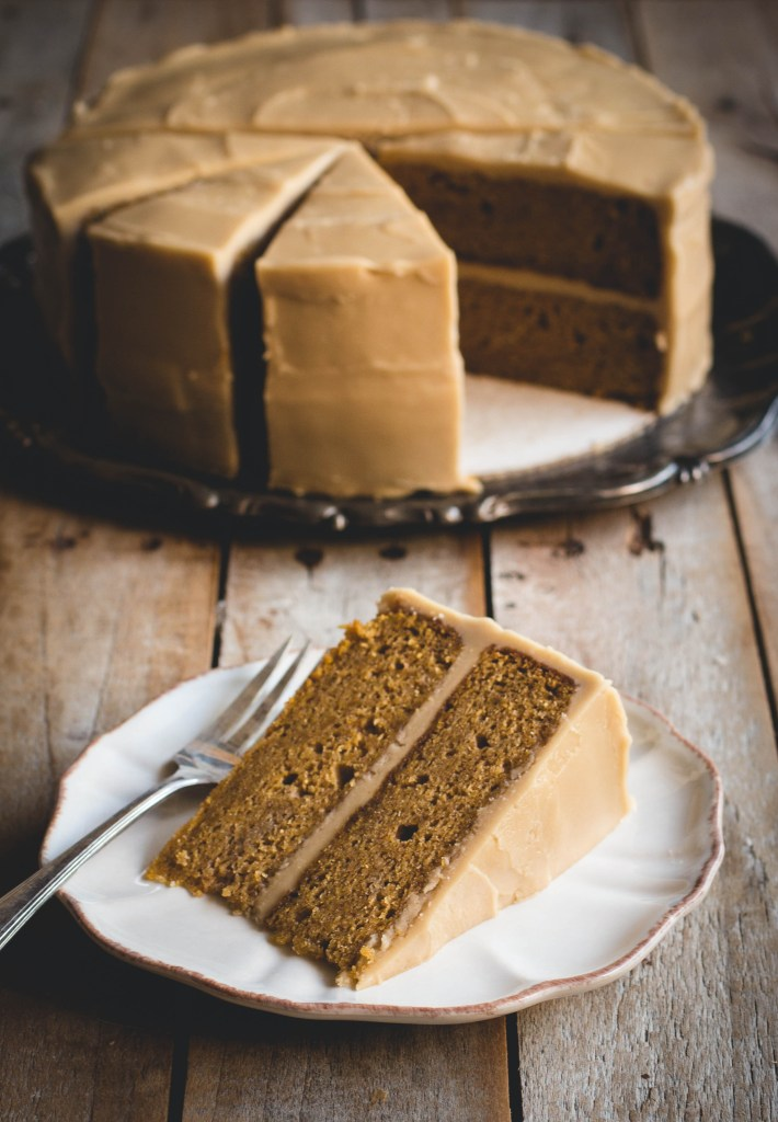 Brown Butter Pumpkin Spice Cake with Penuche Frosting // butterlustblog.com