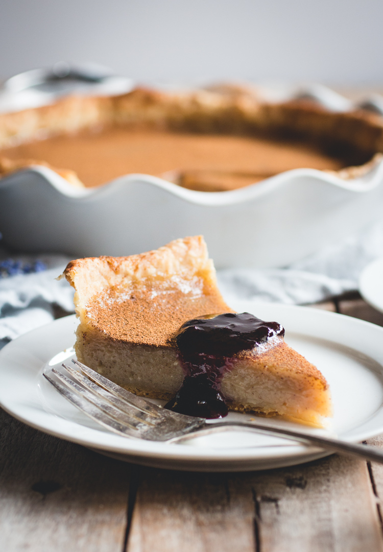 Old-Fashioned Vinegar Pie // butterlust.com @butterlustblog (Don't knock it 'til you've tried it!)