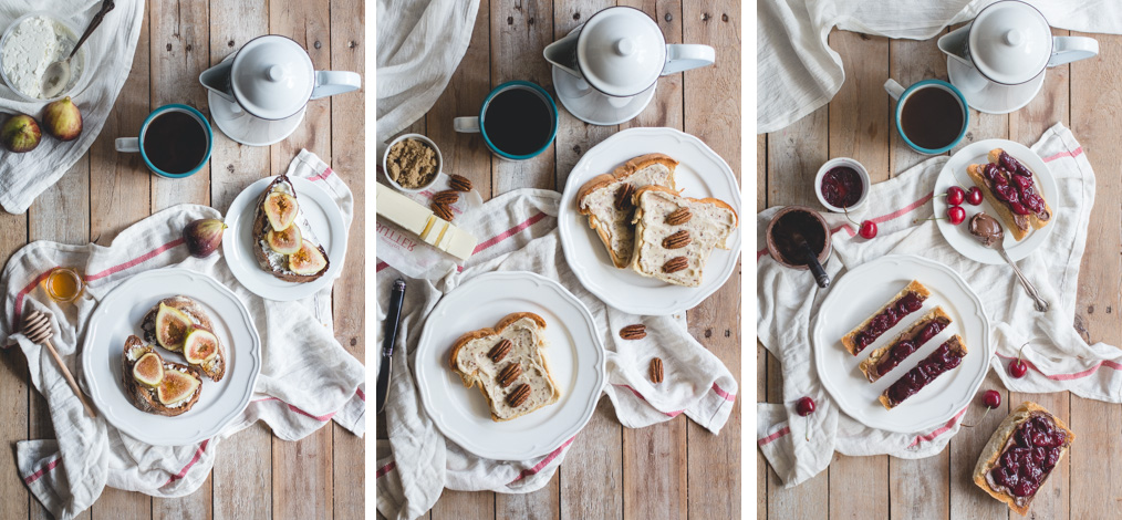 Fancy Toasts 3 Ways from Butterlust, @butterlustblog