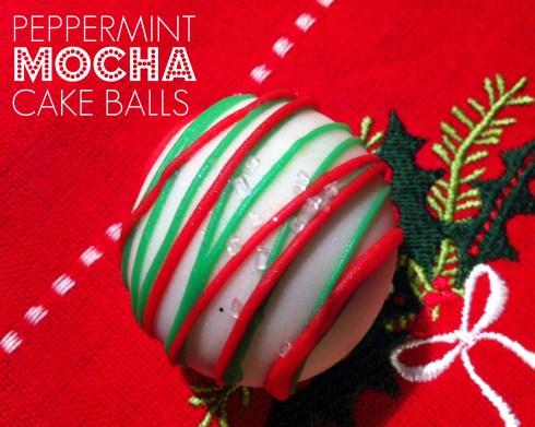 Peppermint Mocha Cake Ballls | Butterlust Blog
