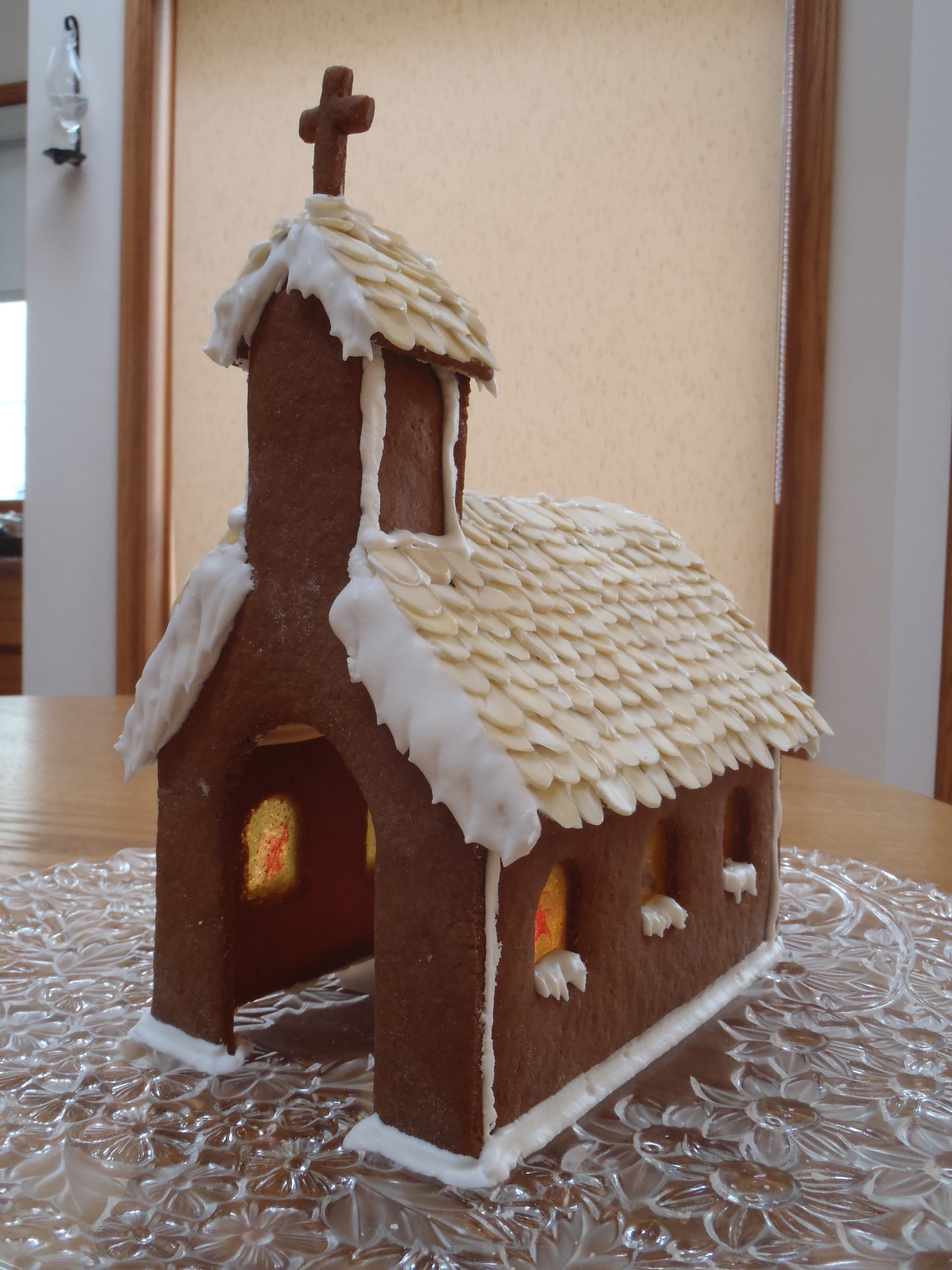 Gingerbread Church With Stained Glass Button SoupButton Soup