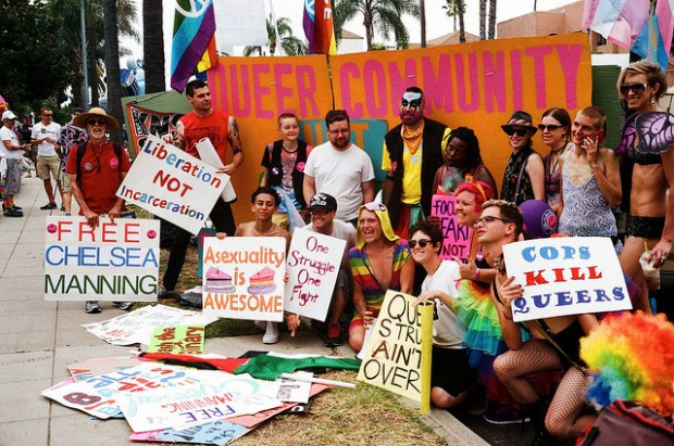 """""""Queer Pride, July 19, 2014"""" image by Flickr user Richard Barry"""
