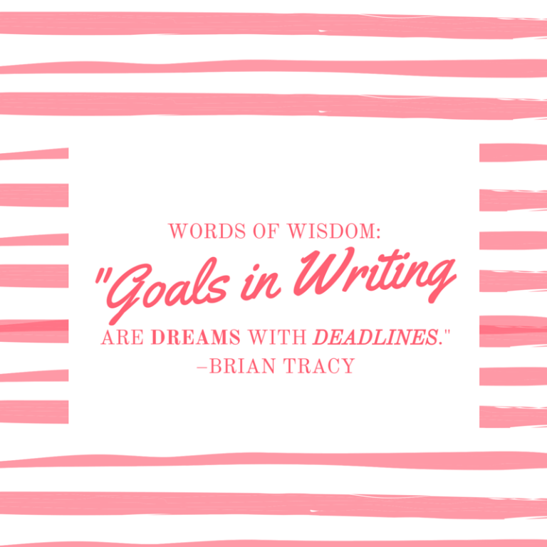 Goals in Writing