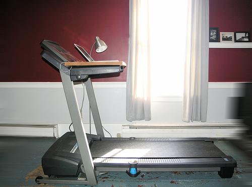 """""""walking desk"""" via Flickr user Casey Bisson"""