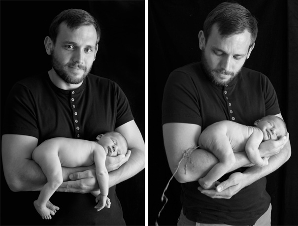 #12 Happy Father With Baby Photoshoot. Nailed It