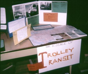 Dave's 4th grade science fair project on trolley buses. Photo from Dave's <a href=