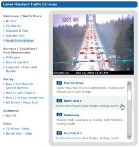 On the Driving page, you can now easily access cameras showing the situation on roads and bridges across the region.