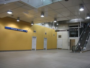 The door to the host command centre in Commercial-Broadway Station.