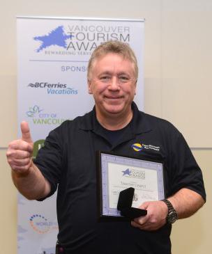 Tim Chaput, winner of a Vancouver Tourism Award, we salute you!
