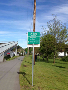 A new sign out on the BC Parkway
