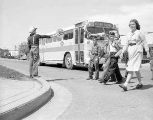 BCE bus with school children 1948