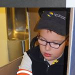 Josh showed us that he dressed up as a Coast Mountian Bus Operator on Halloween!