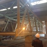 Pedestrian overpass steel fabrication