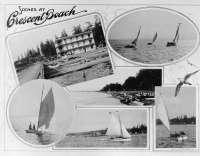 Crescent Beach postcard circa 1920s