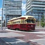New loop at Distillery District. Route 514, a branch of the King Streetcar..
