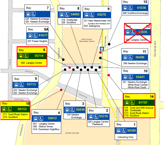 Cropped bus stop map