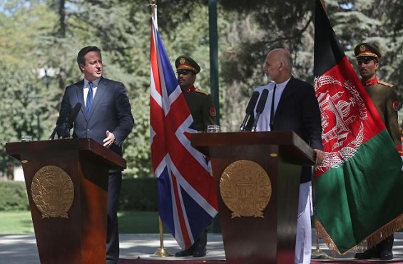 David Cameron makes a surprise visit to Afghanistan