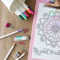 Tombow Irojiten Giveaway + Free Coloring Page