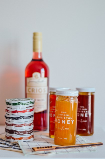 By Gabriella is turning one today! Join in on the fun and enter to win a bottle of rosé, honey from BEE RAW, Taza Chocolate, and a set of napkins and coasters from The Everyday Co. / bygabriella.co