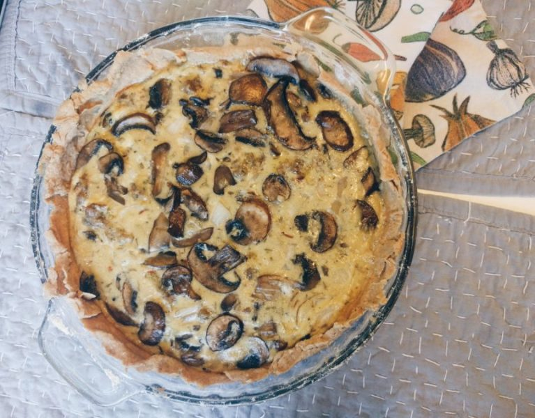 Mushroom and Sausage Quiche