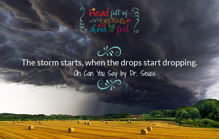 the storm starts