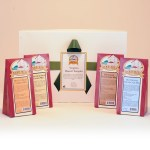 Virginia Dessertr Sampler includes one package each of Chocolate Pound Cake Mix, Ginger and Spice Cookie, Old Virginia Pound Cake Mix and Helen's Fruit Cobbler Mix.