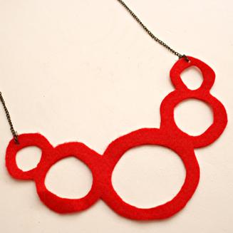 necklace felt