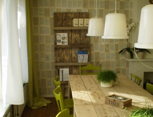creative green interior design small