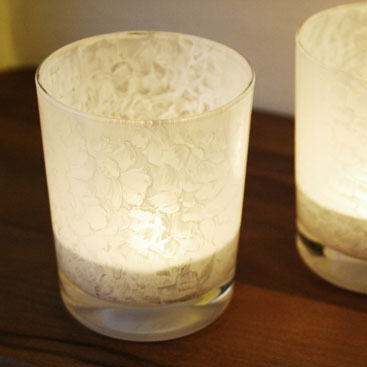 DIY - Painted glass candle holders small