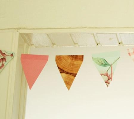 DIY - Wallpaper sample bunting small
