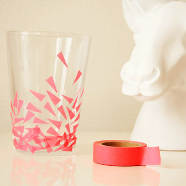 DIY - Washi tape drinking glasses small