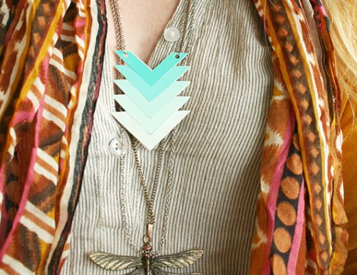 DIY - Paint chip ombre necklace small