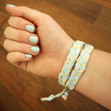 diy raffia bracelet small