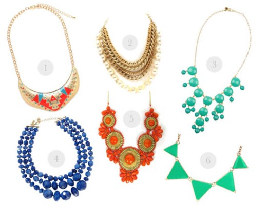 love this - pretty statement necklaces