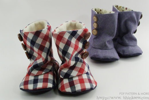 i think sew baby boots