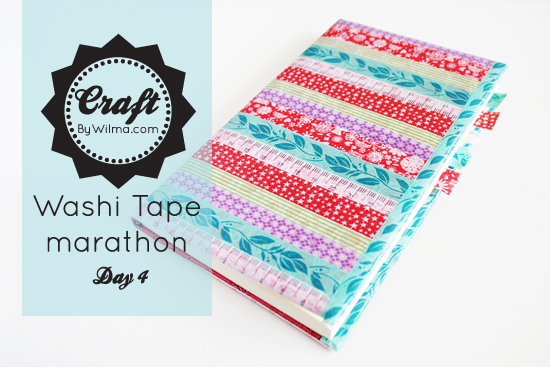 Washi tape marathon day 4: DIY notebook