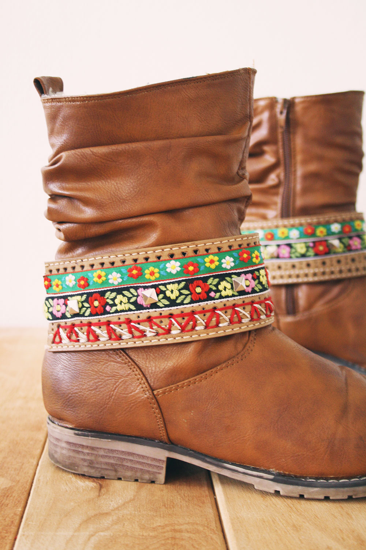 Boho boot belt diy