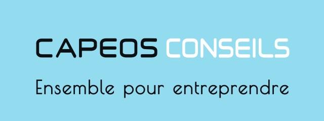 Logo CAPEOS CONSEILS-fond-bleu