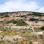 Les lieux d'extraction du marbre, aujourd'hui abandonnés.