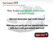 Car Loans for Low Income Families With Bad Credit |authorSTREAM