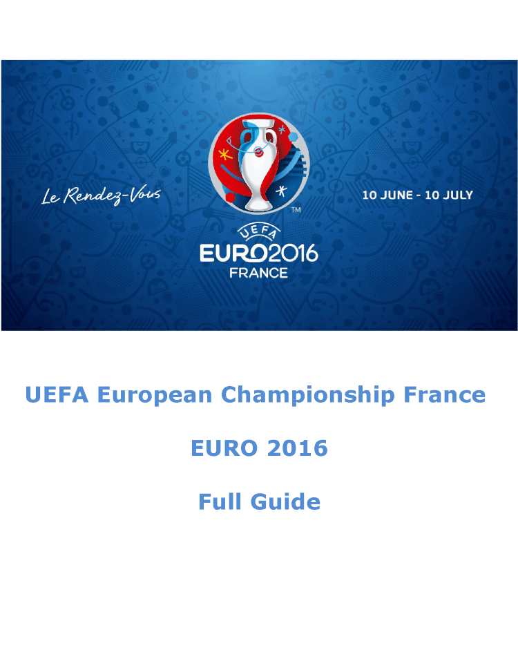 Euro 2016 Pdf Guide on Europeanchampionship  authorSTREAM Euro 2016 pdf guide on EuropeanChampionship